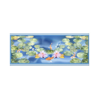 Cyanicity Koi Pond Canvas Artwork (original) (sm)