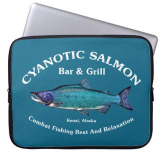 Cyanotic Salmon Bar Grill Laptop Computer Sleeves