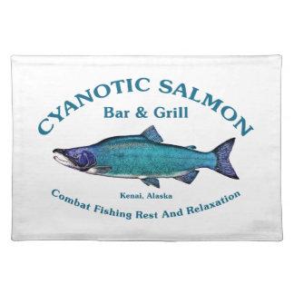 Cyanotic Salmon Bar & Grill Place Mats
