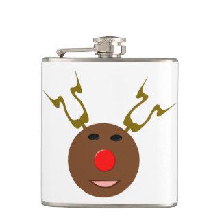 Cyber Christmas Reindeer Flask