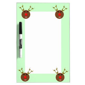 Cyber Christmas Reindeer Memo Board
