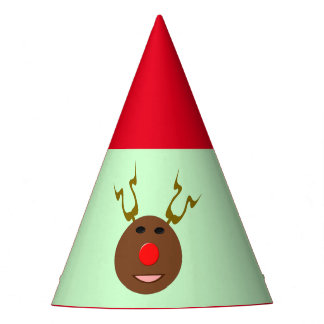 Cyber Christmas Reindeer Party Hat