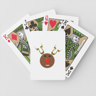 Cyber Christmas Reindeer Playing Cards