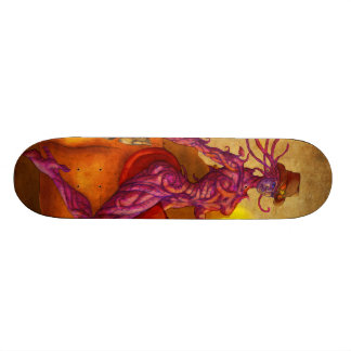 Cyber cowgirl sheriff 18.1 cm old school skateboard deck