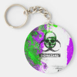 Cyber Death Goth Grunge Art Basic Round Button Key Ring