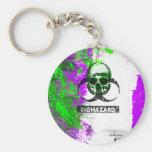 Cyber Death Goth Grunge Art Basic Round Button Key Ring