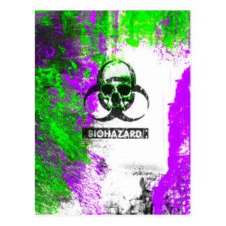 Cyber Death Goth Grunge Art Postcard