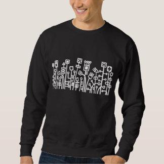 Cyber Garden - White on Dark Sweatshirt