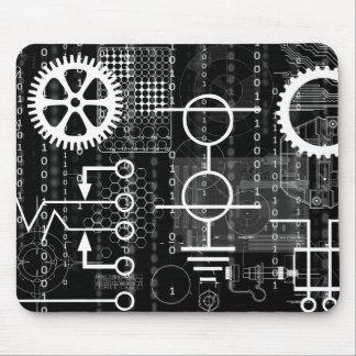 Cyber Gears Computer Code Geek Engineer Math Tech Mouse Pad