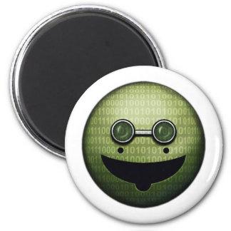 Cyber Grin 6 Cm Round Magnet