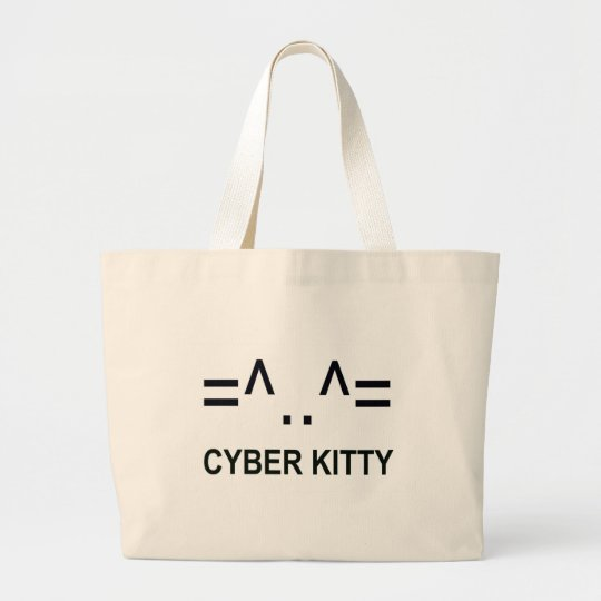 Cyber Kitty Large Tote Bag