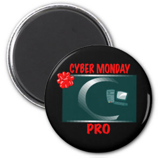 CYBER MONDAY PRO 6 CM ROUND MAGNET