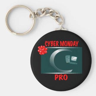 CYBER MONDAY PRO BASIC ROUND BUTTON KEY RING