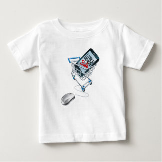 Cyber Monday Sale Phone Trolley Mouse Sign Baby T-Shirt
