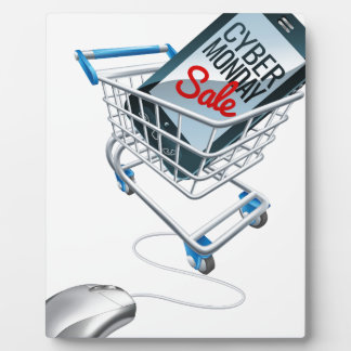 Cyber Monday Sale Phone Trolley Mouse Sign Plaque