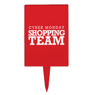 Cyber Monday Shopping Team Cake Picks