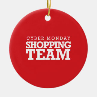 Cyber Monday Shopping Team Christmas Tree Ornament