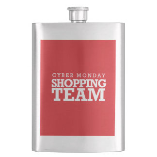 Cyber Monday Shopping Team Hip Flask