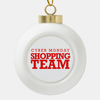 Cyber Monday Shopping Team -- Holiday Humor -.png Ornaments