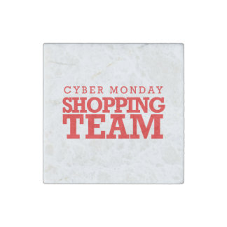 Cyber Monday Shopping Team -- Holiday Humor Stone Magnet