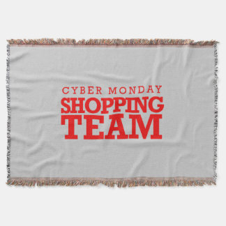 Cyber Monday Shopping Team -- Holiday Humor Throw Blanket