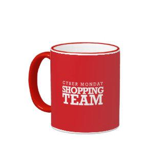 Cyber Monday Shopping Team Coffee Mugs