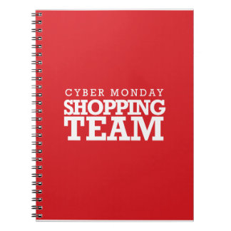 Cyber Monday Shopping Team Spiral Notebooks