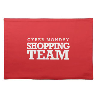Cyber Monday Shopping Team Cloth Place Mat