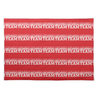 Cyber Monday Shopping Team Cloth Placemat