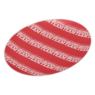 Cyber Monday Shopping Team Party Plate