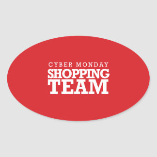Cyber Monday Shopping Team Oval Stickers