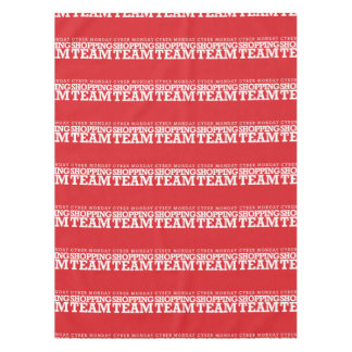 Cyber Monday Shopping Team Tablecloth