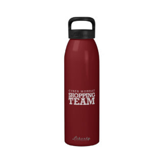 Cyber Monday Shopping Team Reusable Water Bottle