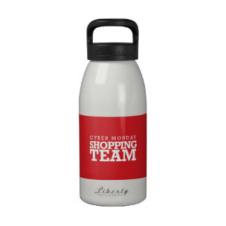 Cyber Monday Shopping Team Drinking Bottles