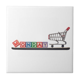 Cyber Monday Small Square Tile