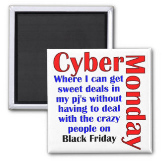 Cyber Monday Square Magnet