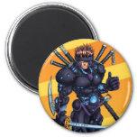 Cyber Ninja Magnet