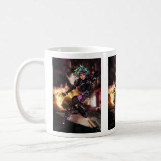 Cyber Police Girl Basic White Mug