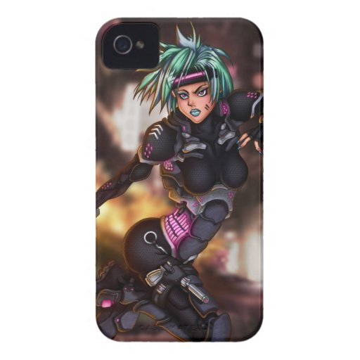 Cyber Police Girl iPhone 4 Cover