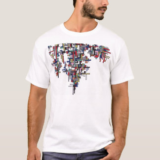 Cyber Pop Abstract Fractal Crystal T-Shirt