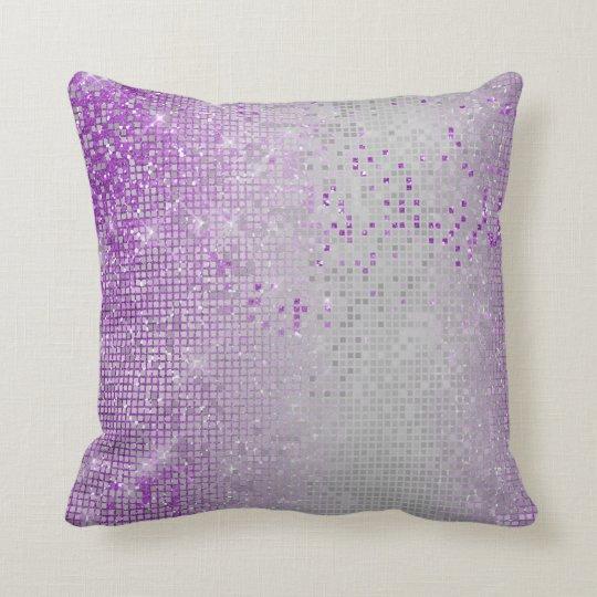 Cyber Sparkly Glitter Grill Lavande Purple Amethys Cushion