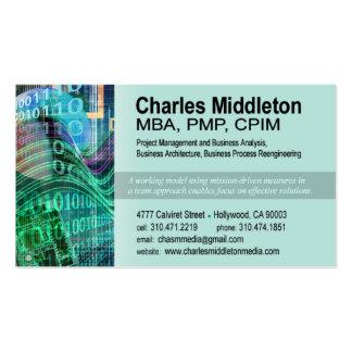 Cyber Tech-1 Business Card template aqua