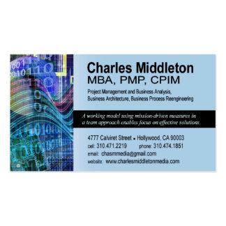 Cyber Tech-1 Business Card template blue