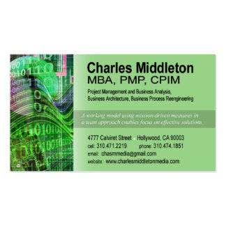 Cyber Tech-1 Business Card template green