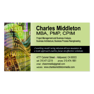 Cyber Tech-1 Business Card template olive