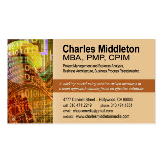 Cyber Tech-1 Business Card template orange