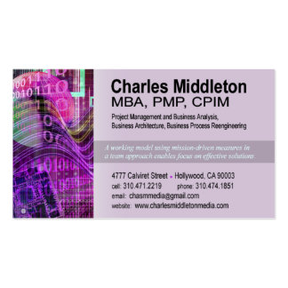 Cyber Tech-1 Business Card template purple