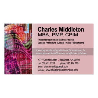 Cyber Tech-1 Business Card template (red)