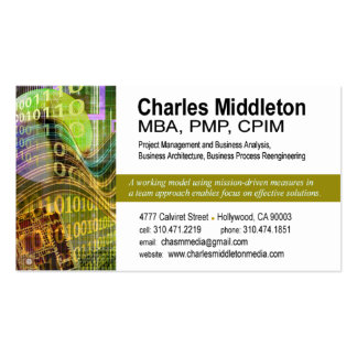 Cyber Tech-1 Business Card template white olive