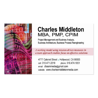 Cyber Tech-1 Business Card template white red